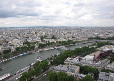 Pogled iz Eifflovega stolpa