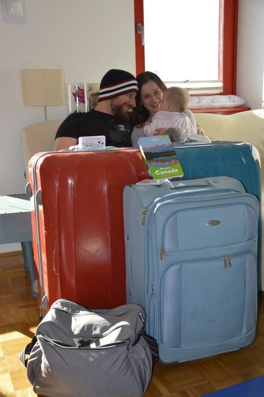 To je zame prvo potovanje, ko imam s seboj tako veliko prtljage.
