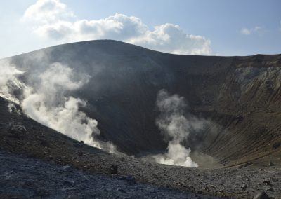 Vulcano, krater