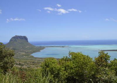 Pogled na goro Le Morne